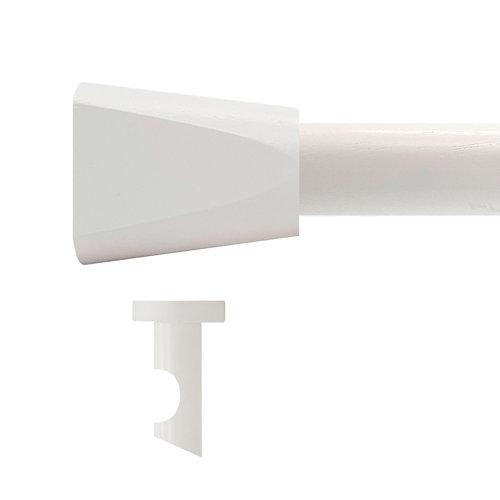 Kit barra madera ø 28mm meta blanco 150cm s/anillas techo