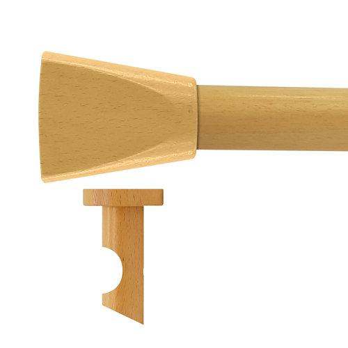 Kit barra madera ø 28mm meta pino 150cm s/anillas techo