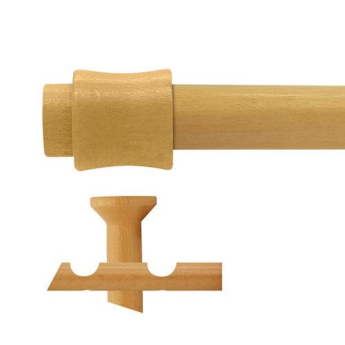 Kit 2 barras madera ø 20mm cata pino 200cm s/anillas techo