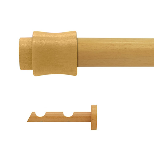 Kit 2 barras madera ø 28mm cata pino 150cm s/anillas pared