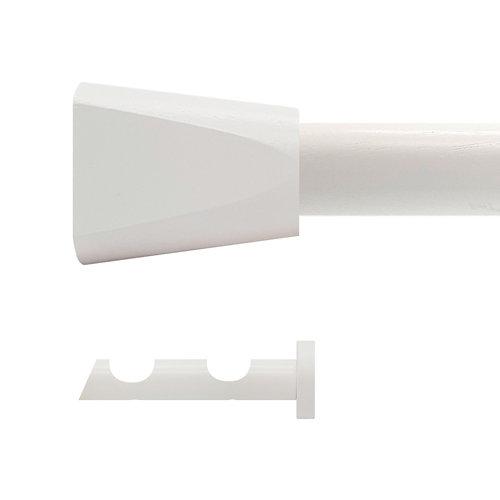 Kit 2 barras madera ø 20mm meta roble 150cm s/anillas pared