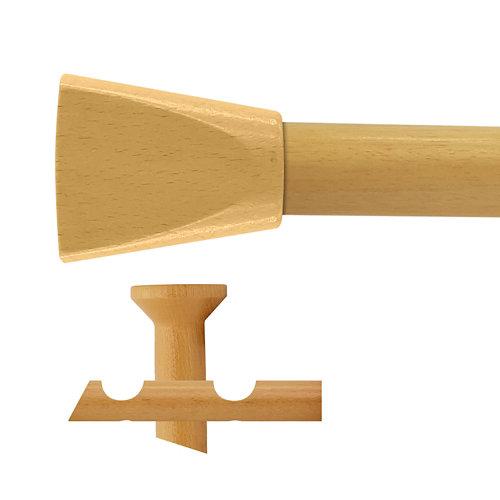 Kit 2 barras madera ø 28mm meta pino 300cm s/anillas techo