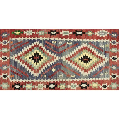Alfombra vinilo kilim multicolor 2574 du-01 40 x 78 cm