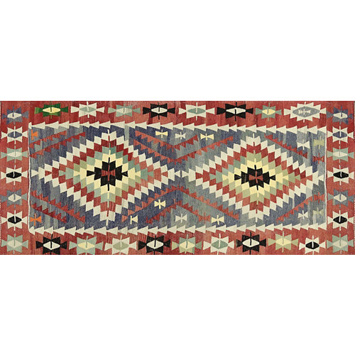 Alfombra vinilo kilim multicolor 2574 du-01 52 x 120 cm