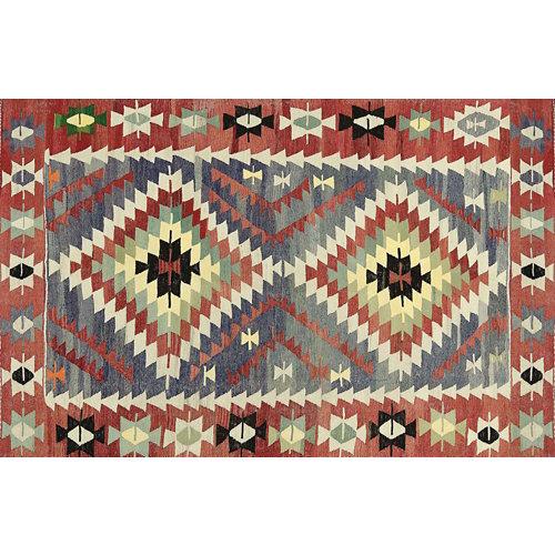 Alfombra vinilo kilim multicolor 2574 du-01 100 x 155 cm