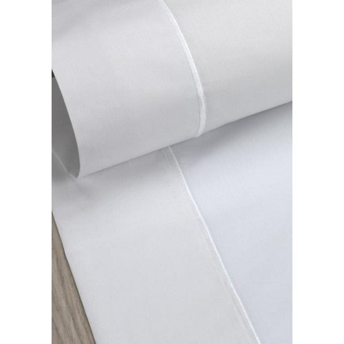 Sábana encimera algodón blanco para cama 150 / 160 cm