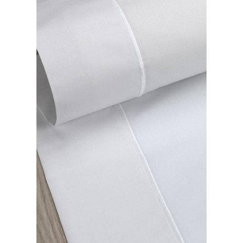 Sábana encimera algodón gris / plata para cama 180 / 200 cm