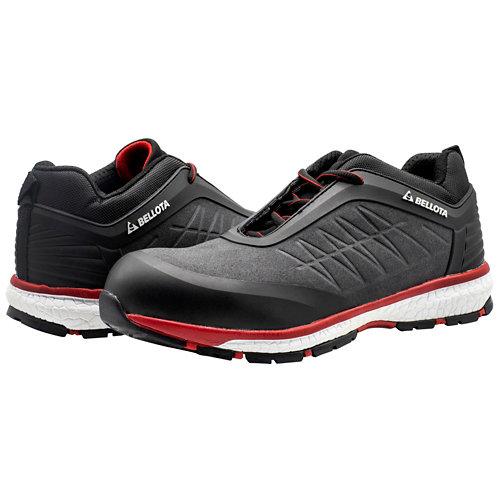 Zapato running para trabajos en exterior bellota t44 negro