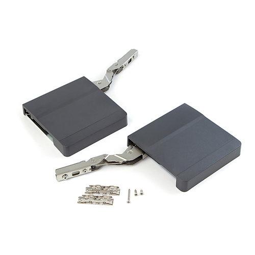 Compás puerta elevable fuerza 960-2040 gris antracita