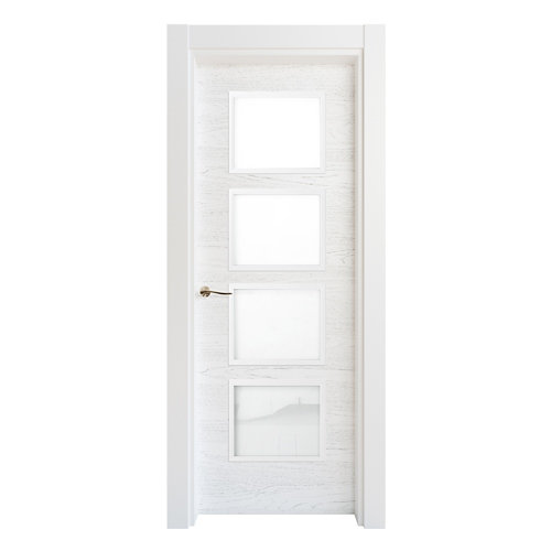 Puerta acristalada bari premium blanco i 7x62,5 cm