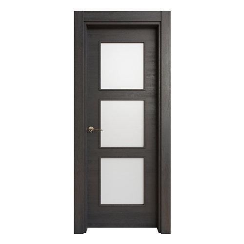 Puerta acristalada oslo azabache d 7x82,5 cm