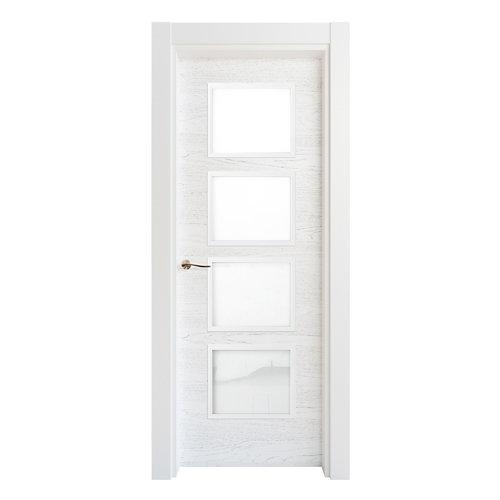 Puerta acristalada bari premium blanco i 9x62,5 cm