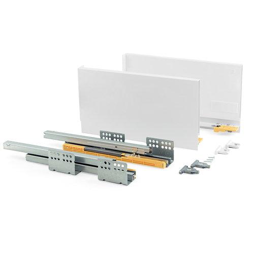 Kit cajón de acero blanco 185 mm prof. 400 mm con soft