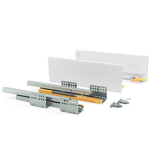 Kit cajón de acero blanco 138mm prof. 400mm cierre soft