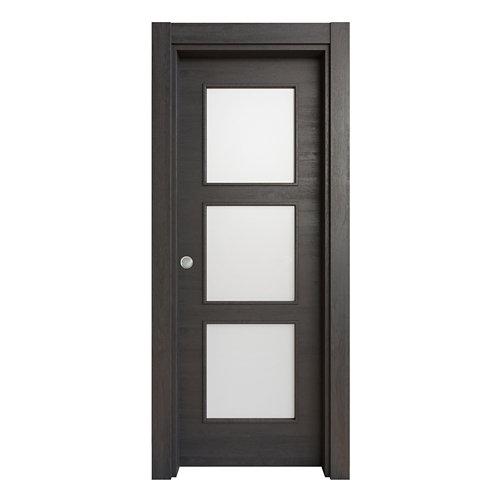 Puerta corredera acristalada oslo azabache 62,5 cm