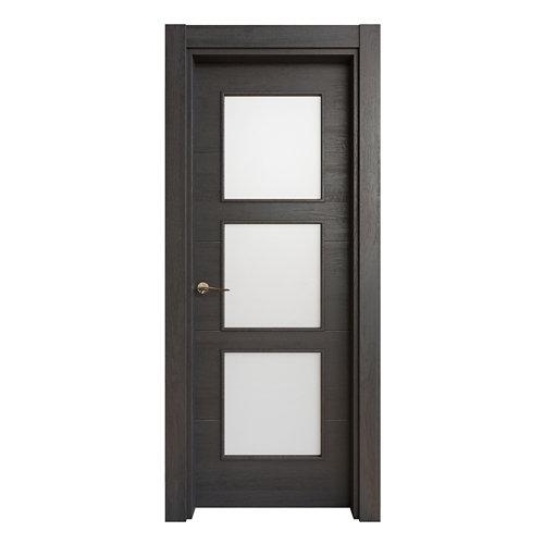 Puerta acristalada berna azabache 7x72,5 cm i