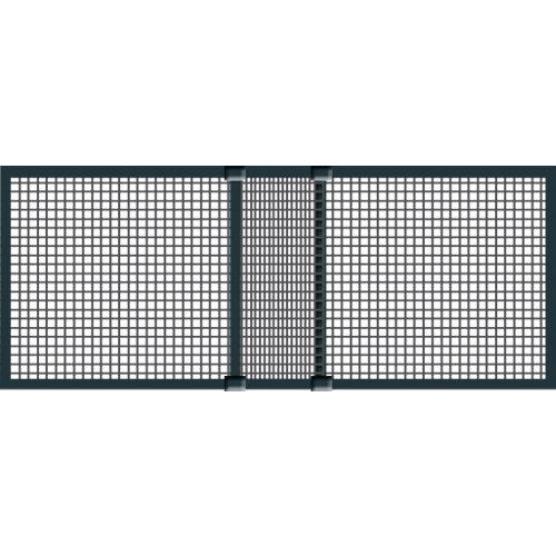 Mosquitera de aluminio extensible gris 50x75 cm