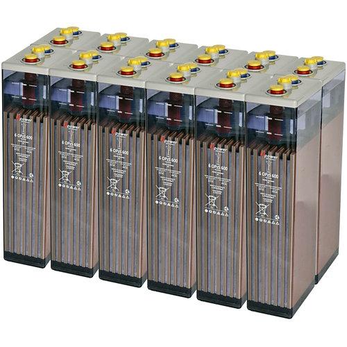 Bateria u-power opzs 600 24v estacionaria