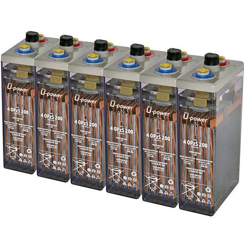 Bateria u-power opzs 200 12v estacionaria