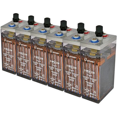 Bateria u-power opzs 250 12v estacionaria