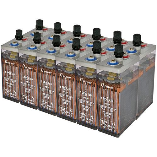 Bateria u-power opzs 250 24v estacionaria