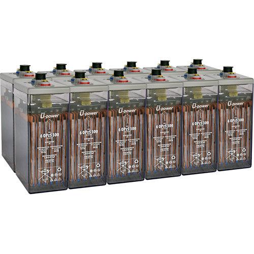 Bateria u-power opzs 300 24v estacionaria