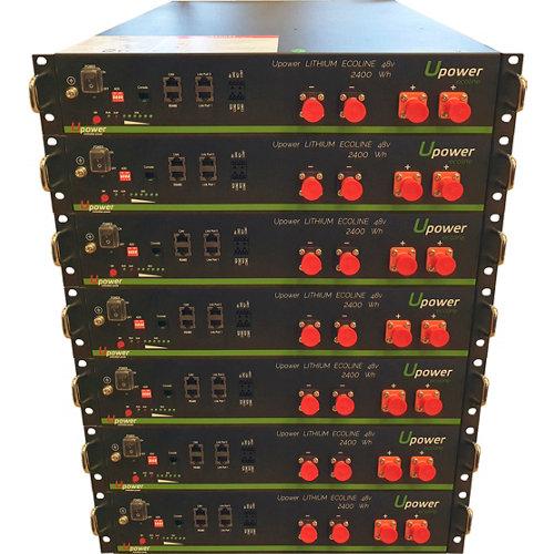 Bateria litio u-power 2,4kw/h 48v x7