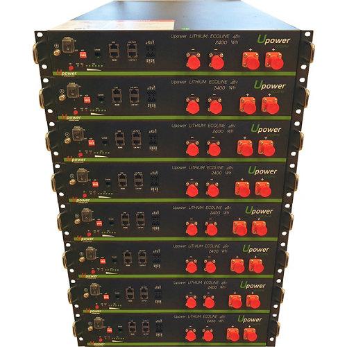 Bateria litio u-power 2,4kw/h 48v x8