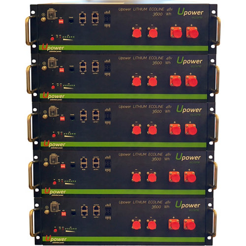 Bateria litio u-power 3.6kw/h 48v x5
