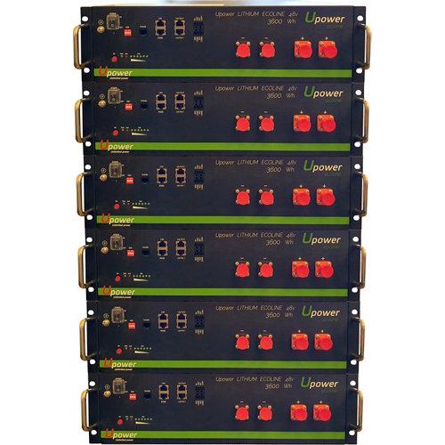 Bateria litio u-power 3.6kw/h 48v x6