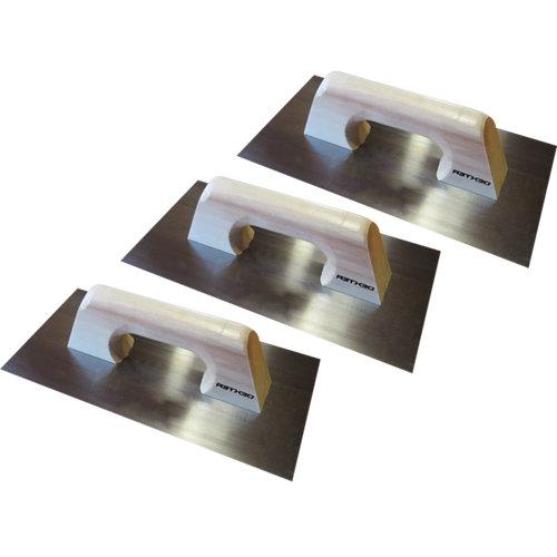 Lote 3 llanas de acero dexter 300x150 mm