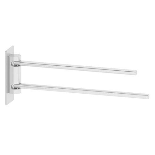 Toallero gris / plata brillante 33.5x10.5 cm