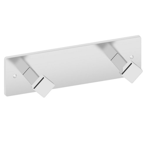 Percha de baño gris / plata brillante