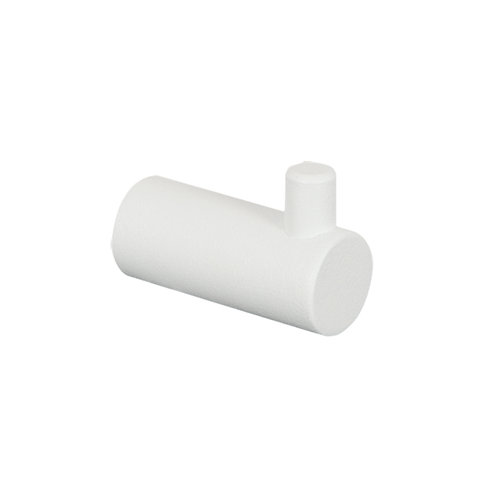 Percha de baño matera blanco mate