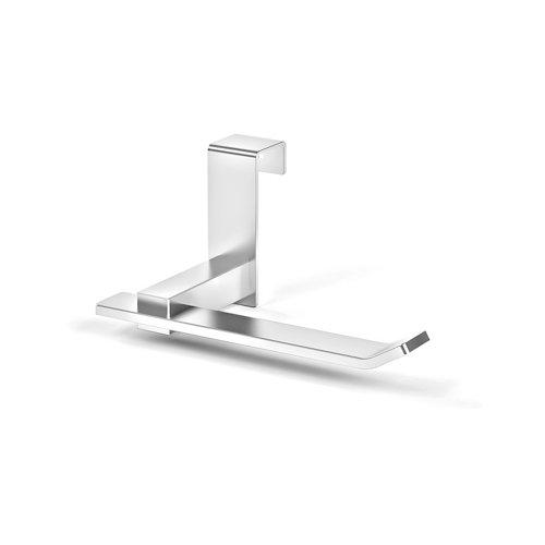 Portarollo wc gris / plata brillante 15x7x9 cm