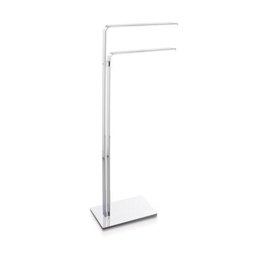 Toallero de pie gris / plata brillante 37x87.5 cm