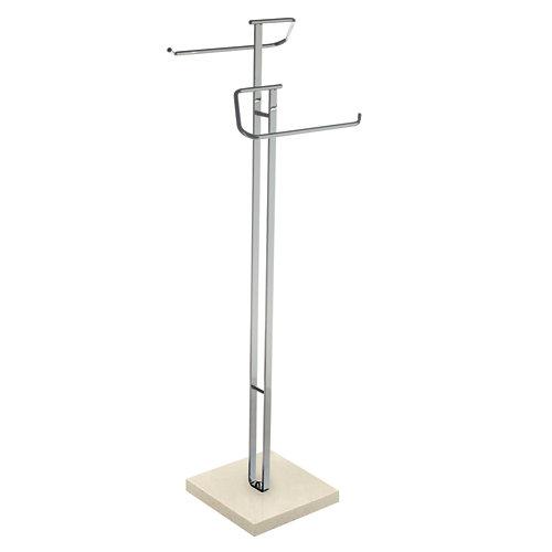 Toallero de pie gris / plata brillante 27x88.5 cm