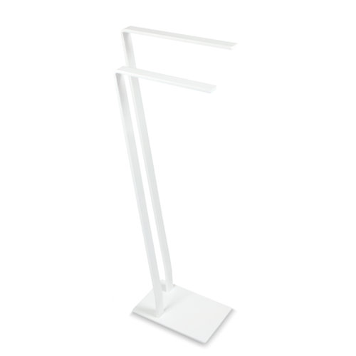 Toallero de pie blanco mate 28x85 cm
