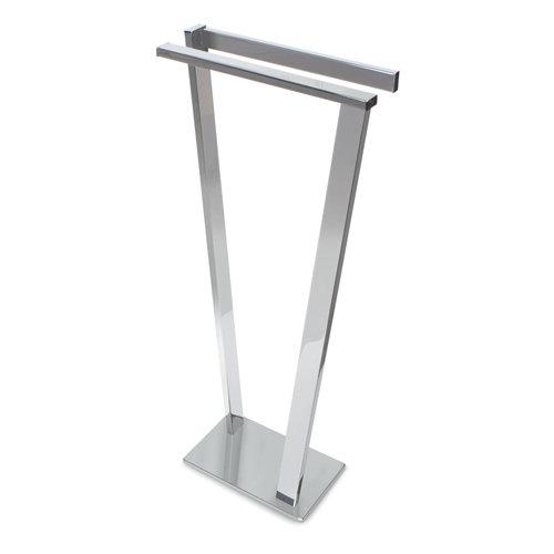 Toallero de pie gris / plata brillante 36.5x81 cm