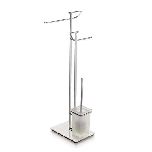 Escobillero y portarollo acero 27 x75 cm
