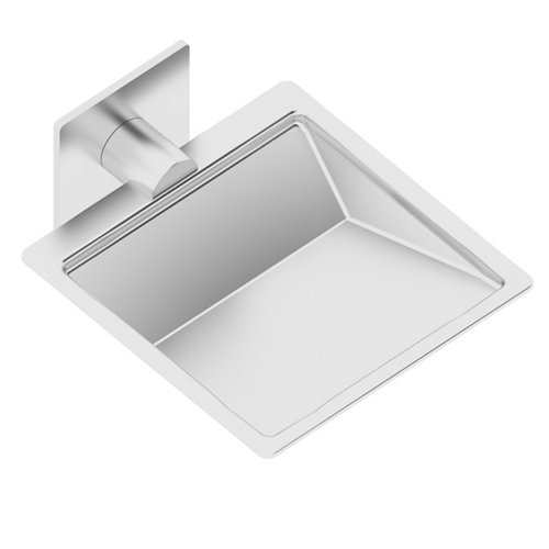 Jabonera gris / plata brillante