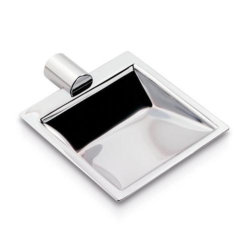 Jabonera matera gris / plata cromado brillante