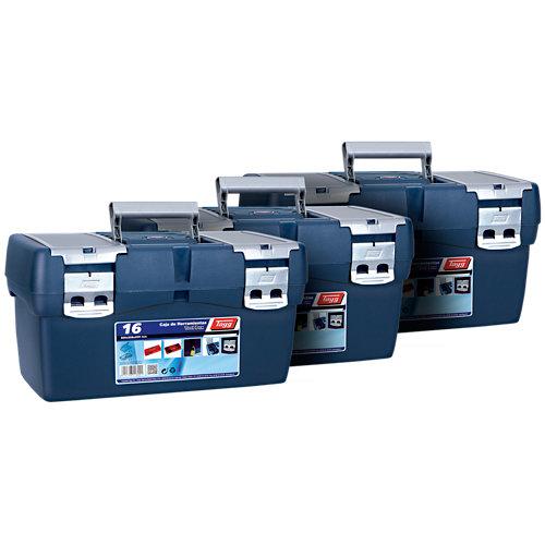 Lote 3 cajas de herramientas tayg nº 16 50 x 25,8 x 25,5 cm