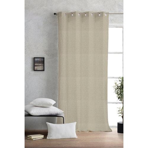 Cortina ollaos lino alma color natural 140 x 270 cm