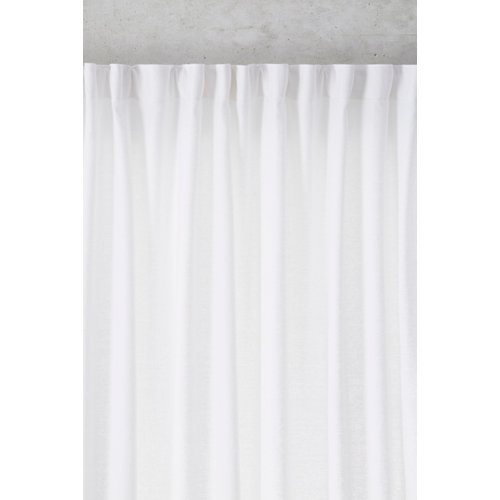 Cortina fruncida lino alma color nieve 200 x 270 cm