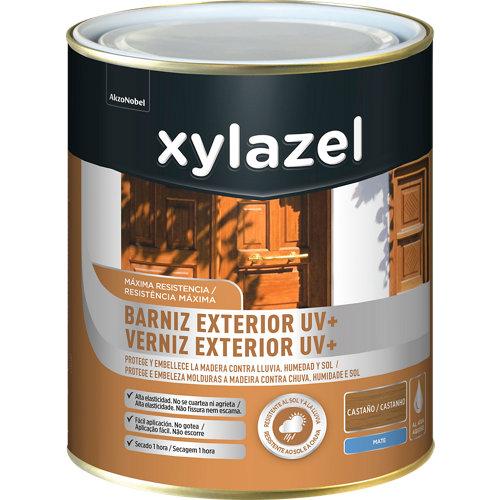 Barniz exterior uv plus mate xylazel 2.5 l castaño