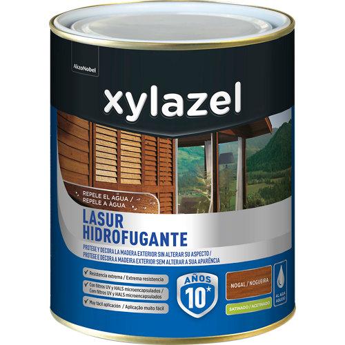 Protector de madera hidrofugante satinado xylazel 2.5 l nogal
