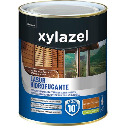 Protector de madera hidrofugante satinado xylazel 2.5 l castaño