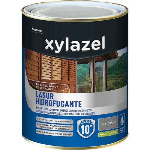 Protector de madera hidrofugante satinado xylazel 2.5 l gris