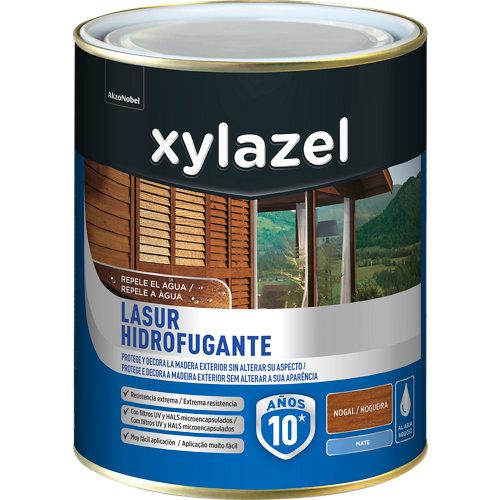 Protector de madera hidrofugante mate xylazel 2.5 l nogal